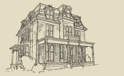 Victoria heritage foundation architectural styles for Second empire victorian house plans